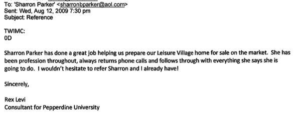 I love leisure village testimonial pepperdine