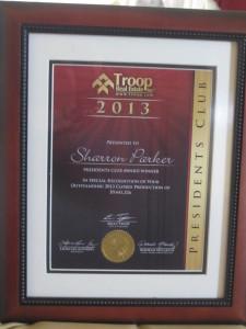 Troop Award - Sharron Parker